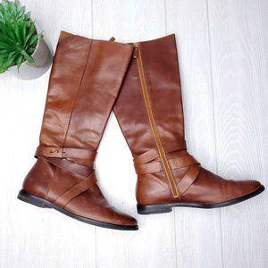 Cole Haan Petra Belt Genuine Leather Brown Sz 7.5